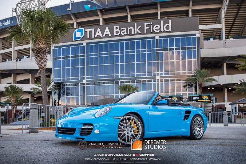 2019 Jax Cars and Coffee at TIAA Field 010 POSED - Deremer Studios LLC