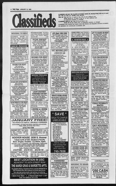 Daily Trojan, Vol. 119, No. 4, January 15, 1993