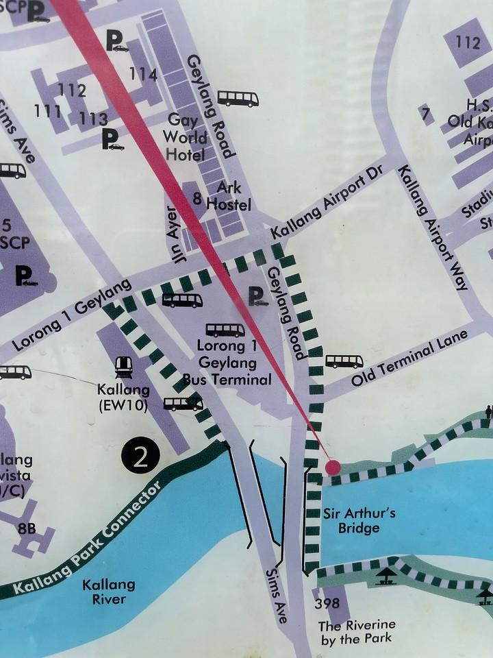 How to go from Kallang MRT to Kallang Riverside Park