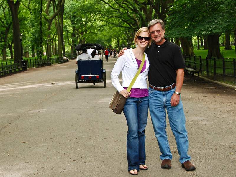 Joanna and me, Central Park