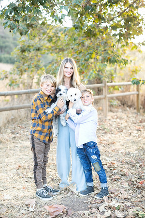 La Jolla Family Photographs - rural rustic countryside - Holiday Card Photography - Tess and the boys Fall 2019
