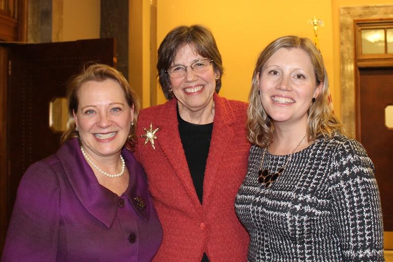 Chancellor Anne Martin, Margaret Behm, Liz Sitgreaves
