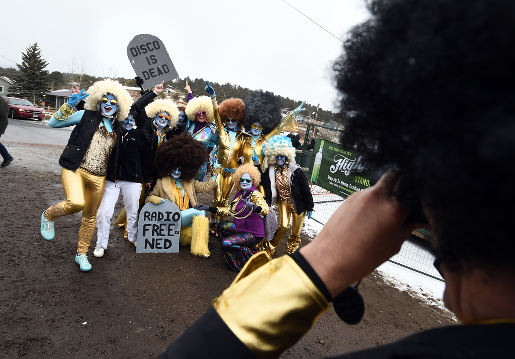. The Solid Cold Dance team does their team photo on Saturday during 2018 Frozen Dead Guy Days in Nederland. The festival continues on Sunday. For more photos, go to dailycamera.com. Cliff Grassmick  Photographer  March 10, 2018