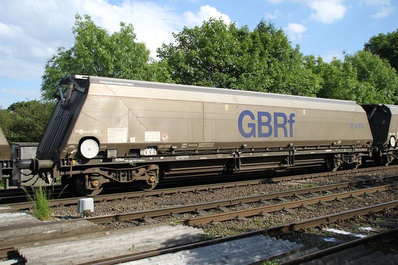 IIA 37.70.6955250-5 Biomass wagon seen on Drax-Tyne Dock working passing Hillam Gates 19/06/12