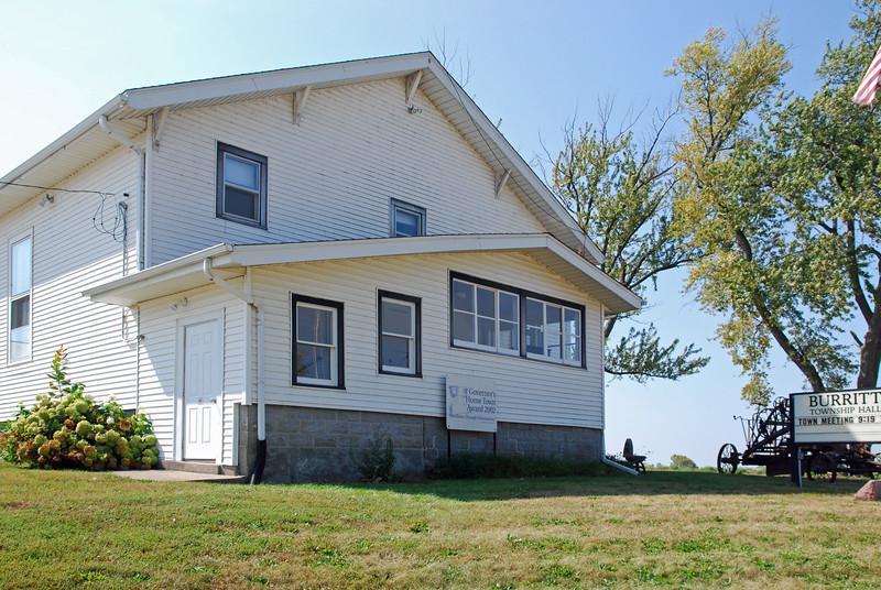 Front of Burritt Township Hall