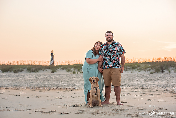 Holly and Tanner, Cape Hatteras Proposal/Engagement