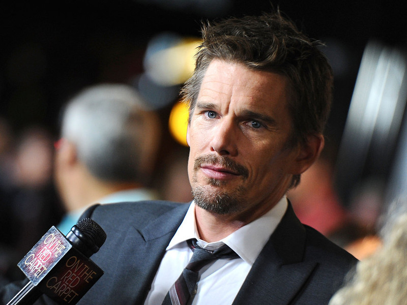 . Actor Ethan Hawke arrives to the screening of Summit Entertainment\'s \'Sinister\' at Landmark Theatres Regent on October 1, 2012 in Los Angeles, California.  (Photo by Angela Weiss/Getty Images)