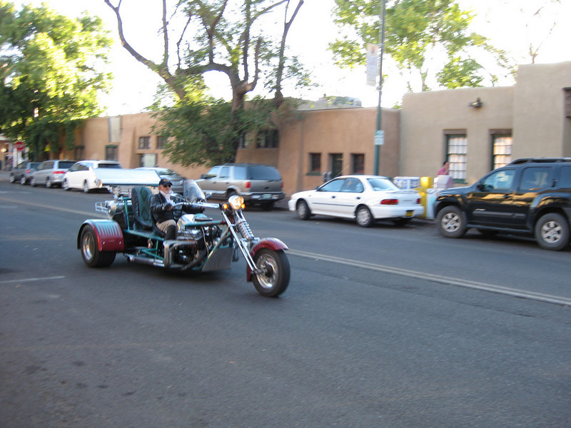 BIG motorcycle cruising by our hotel.