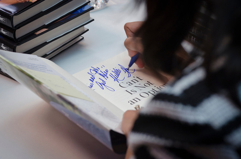 """Gov. Nikki Haley signs copies of her book """"Can't Is Not an Option"""" at Fiction Addiction in Greenville, SC."""