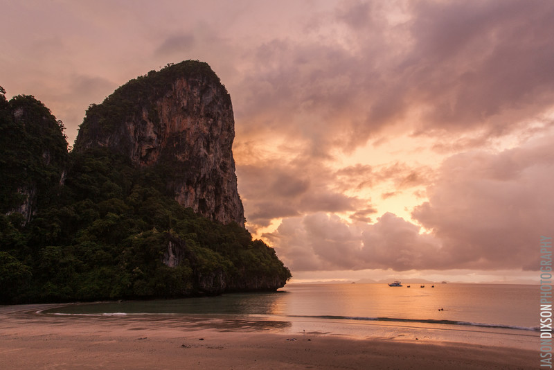 Sunset at Railay Beach, Krabi Town.