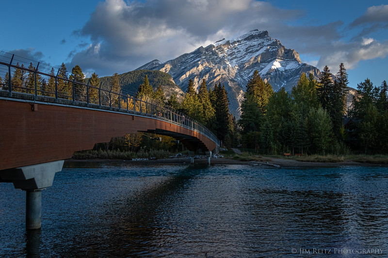 A morning walk along the Bow River in Banff...