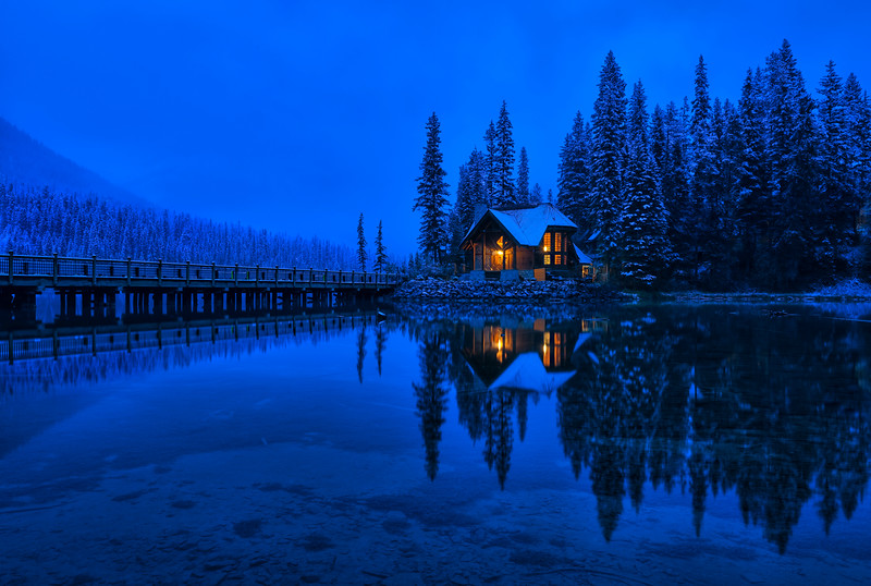 Blue Hour at Emerald Lake