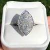 2.65ctw (est) Old Mine Cut Cobblestone Ring, French 52