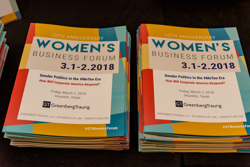 2018 - Greenberg Traurig -Women's Business Forum