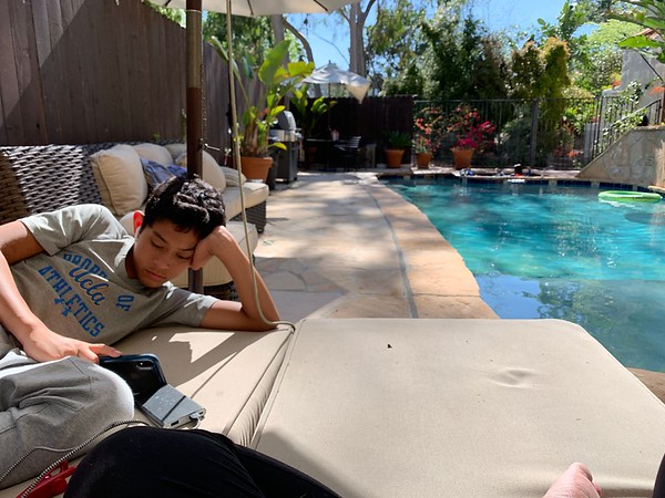 2019.04.13 Afternoon at the pool