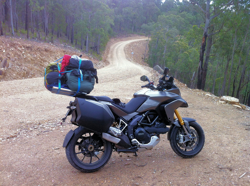 Johan G's 'Titanium' Multistrada 1200, the first in these photo galleries!