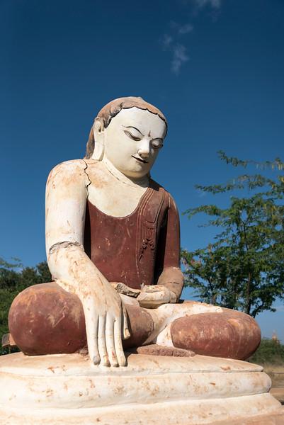 Statue of seated Buddha in Bagan, Burma - Myanmar
