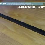 SKU: AM-RACK/670/125, 1.25 Modulus Helical Teeth High Precision Gear Rack Steel 670mm Length for CNC Automation