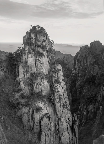 "Solitary Rock in Huangshan. 16""x22"""