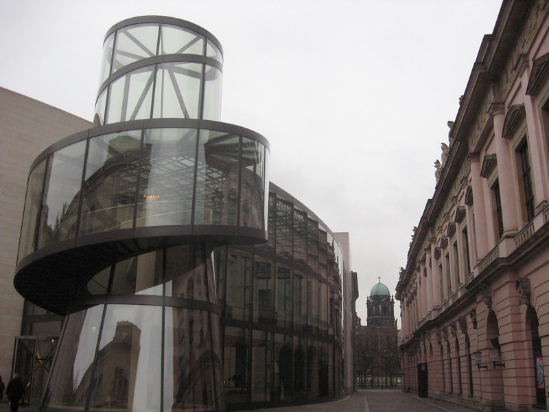 The old and the new--the old museum building adjacent to the I. M. Pei designed structure.