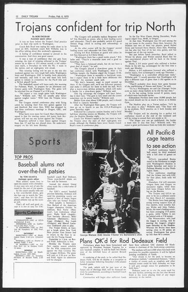 Daily Trojan, Vol. 61, No. 69, February 06, 1970