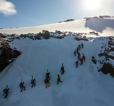 Eyjafjallajökull - Skerjaleið yfir í Smjörgil