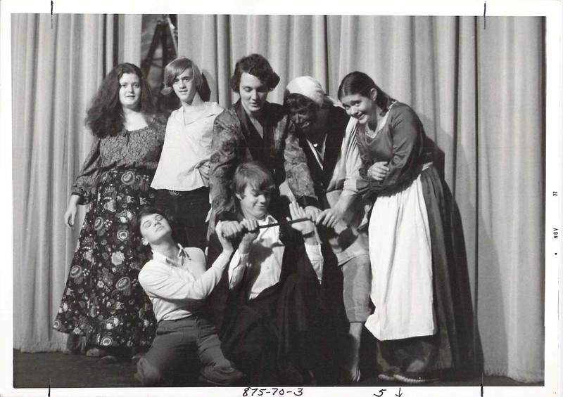 Liz Weston's AP English class doing Macbeth, fall 1977