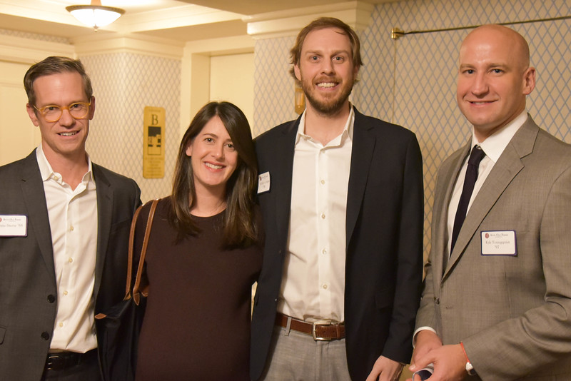 Chris Stone 88, Amanda Slaughter, Andrew Corrigan '98, and Kyle Youngquist '97