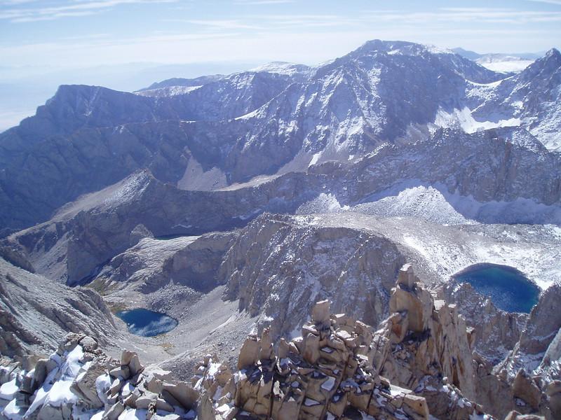 Lone Pine Peak, Mt. Thor, Upper Boy Scout Lake. Mt Irvine, Mt. McAdie and Iceberg Lake