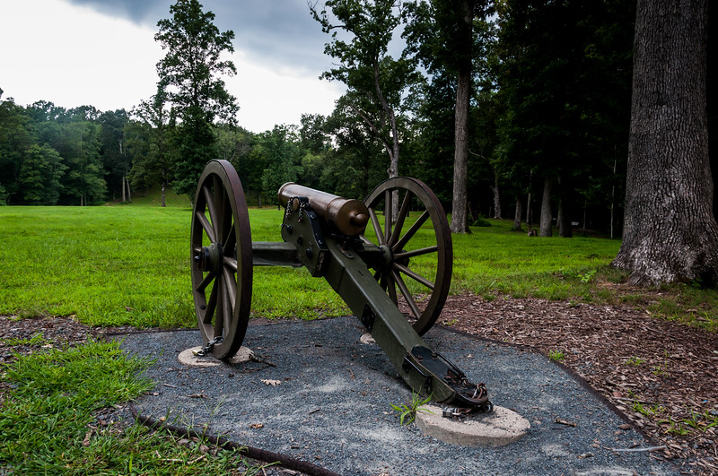 Cannon overlooking Ball's Bluff battlefield, VA