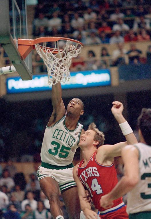 . 22. Reggie Lewis, shown at left (AP Photo/Peter Southwick)