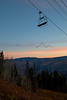 Chair 12 at Beaver Creek, CO at sunrise