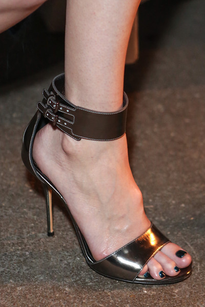 NEW YORK, NY - SEPTEMBER 07:  Actress / singer Mandy Moore (shoe detail) attends Billy Reid's spring 2013 fashion show during Mercedes-Benz Fashion Week at Eyebeam on September 7, 2012 in New York City.  (Photo by Chelsea Lauren/Getty Images)