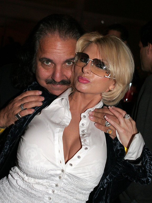 ". Ron Jeremy (L) and Lana Smith pose at the reception for ""F*ck\"" during AFI Fest presented by Audi at the Loft on November 7, 2005 in Hollywood, California.  (Photo by Katy Winn/Getty Images for AFI)"