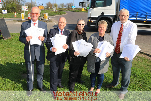 Pictured L-R: Councillors Garry Calver, Ivan Henderson, Maria Fowler, Jo Henderson and John Brown