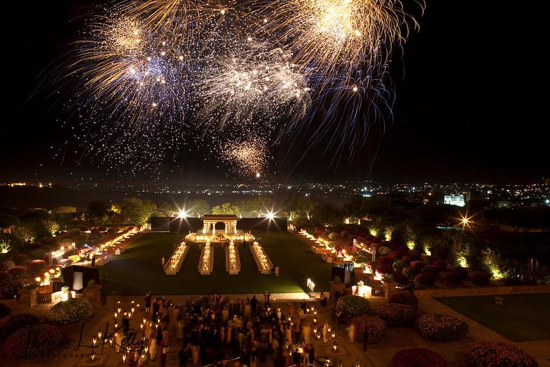 Umaid Bhawan Palace courtyard.
