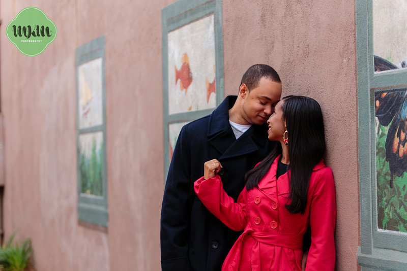 Cozy, Sweet, Downtown Raleigh Winter Engagement Photography - MKM Photography (14).jpg