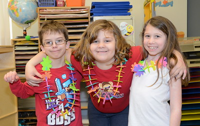 Second Grade Goes Hawaiian With Leis photos by Gary Baker