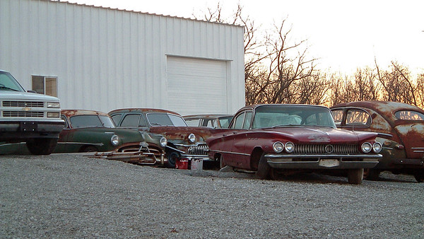 January 18, 2004:  Car lot in Sweet Springs, Missouri .  .  .