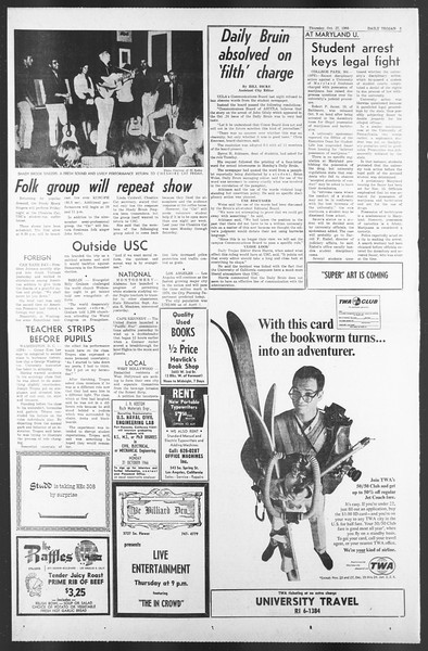 Daily Trojan, Vol. 58, No. 28, October 27, 1966