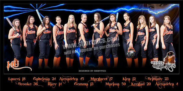 2011 14U Outlaws Team Poster