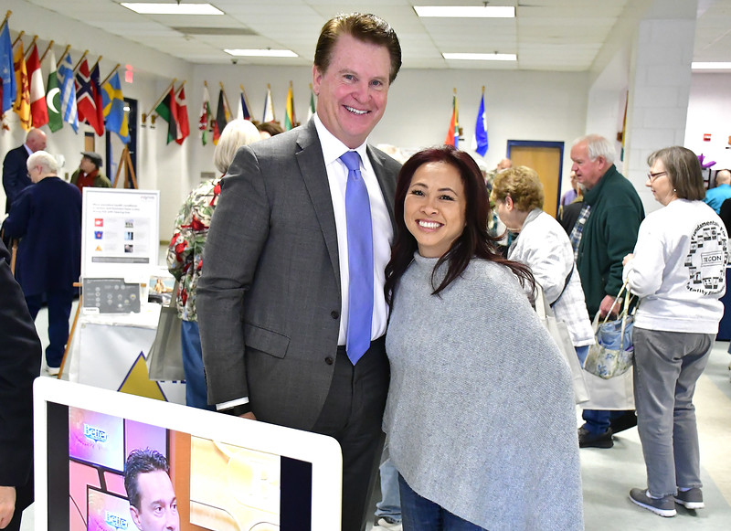 4/6/2019 Mike Orazzi | Staff Dan and Kim Tully during the 5th Annual Connecticut Prime Time Senior Fair Saturday at Bristol Eastern High School.