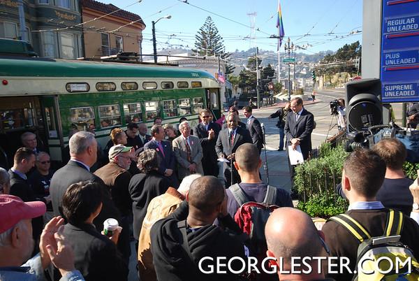 Harvey Milk Streetcar Dedication Ceremony