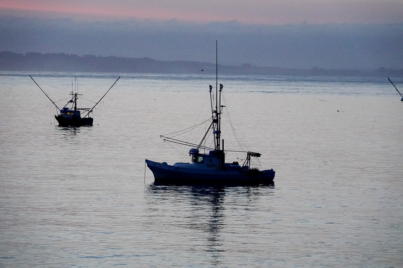Early mornings and the boats of Santa Cruz, in the Monterey Bay