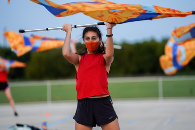 Color Guard Rehearsal, Sept 7, 2020