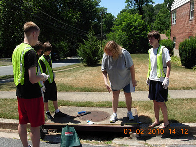 July 2010 Storm Drain Stenciling Project in Catonsville Community
