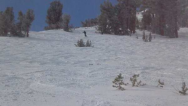 Video of Alicia coming down the backside of Kirkwood.  Video by Harrison Turner.
