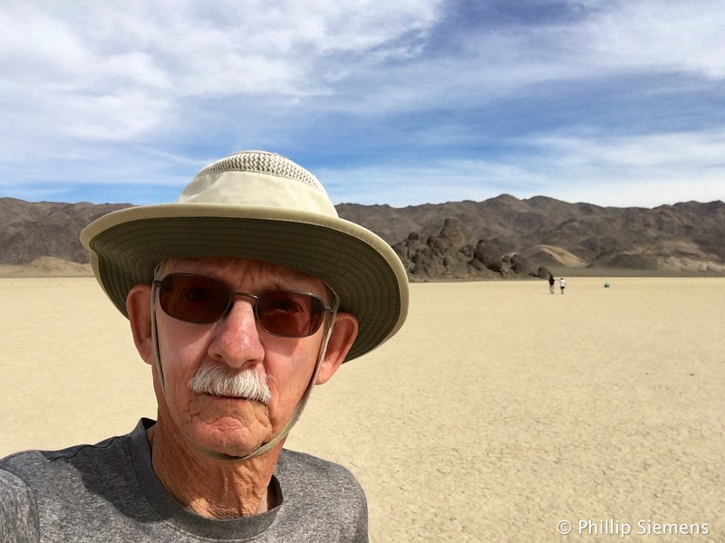 Selfie at Race Track Playa in Death Valley
