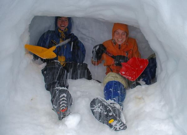 Snow caving, 20 - 21 August 2011