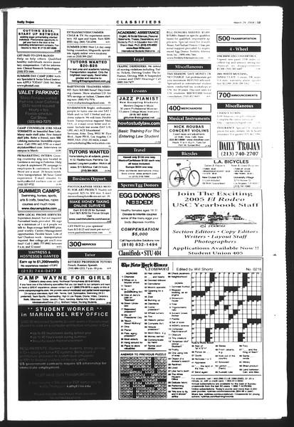 Daily Trojan, Vol. 151, No. 44, March 29, 2004